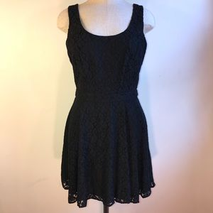 NWOT Black Lace Tie Back Dress